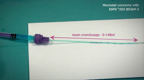 ISO80369-3 ENFit syringe can lead to inaccurate dosage